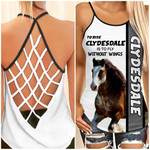 Clydesdale horse Cross Tank Top Ntk-35tp008