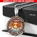 Personalized Till Our Last Breath Custom Names & Date Sloth Necklace