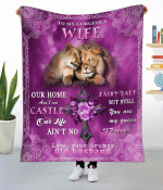To My Gorgeous Wife Lion Fleece Blanket NVL-21DD016