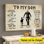 Personalized To My Son Wherever Your Journey In Life Canvas