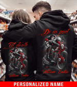 Personalized Till Our Last Breath Skull Couple Hoodie NVL-2d-couple-skull33
