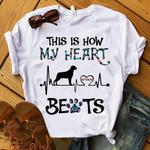 Rottweiler Heart beat T-shirt