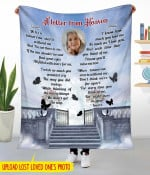 Personalized A Letter From Heaven PM-21CT8 Fleec Blanket 2 Size Template