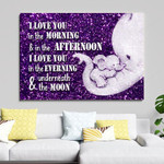 Mom And Daughter Canvas 3 Size Template NVL-15TQ001