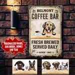 Personalized Coffee Bar (Custom) Dogs Printed Metal Sign NLA-29MQ001