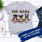 FUR MAMA Personalized Dogs T-shirt