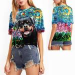 ROTTWEILER Starry night Bling Women T-shirt