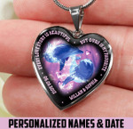 Favorite love story dolphin Heart necklace ntk-18nq032