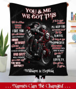 Personalized Fleece Blanket You And Me We Got This