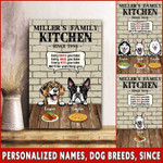 Kitchen with dogs Canvas ntk-15vn011