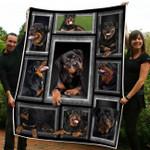 Rottweiler Dog Fleec Blanket 2 Size Template NVL-21DT001