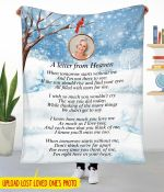 A letter from Heaven Custom Photo Blanket