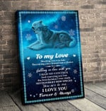 Gift For Your Love - Wolf Matte Canvas tdh hqt-15mq003