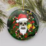 Christmas Skull Circle Ornament (1 sided)  tdh hqt-14dq003
