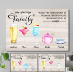 Personalized Family Bless The Flood Before Us Drinks Canvas DHL-15va007