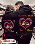 Personalized Till Our Last Breath Pug Couple Love Hoodie tdh HQT-16TT004