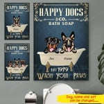 Personalized  Happy Dogs Canvas tdh | hqt-15ct02