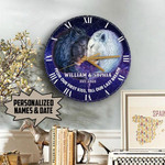 Personalized Till Our Last Breath Lion Wooden Clock NVL-28NQ003