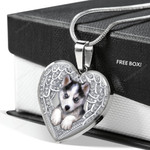 HUSKY Heart Necklace PM-18CT