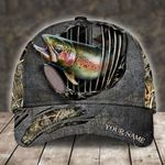 RAINBOW TROUT FISHING CAMO PERSONALIZED CAP