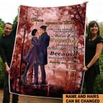 Personalize couple Fleece Blanket ntk-21dt006