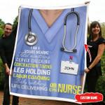 Nurse & Doctor - Cutomize Name  Fleece Blanket  hqt-21dq010