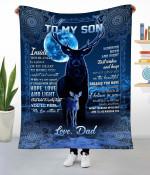 To My Son Deer Fleece Blanket NVL-21DD006