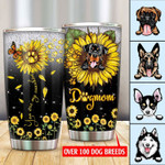 Tumbler Sunflower And Dog 3D Printing PM-WCT001