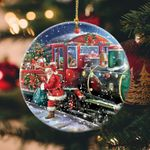 Christmas Circle Ornament (1 sided) hqt-14XT003