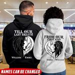 From our first kiss Till our last breath Personalized Couple Hoodie