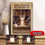 CAT BOOKSTORE PERSONALIZED CANVAS NTP
