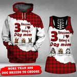 Personalized Dog The Reason I Love Being A Dog Mom 3D Full Printing Hoodie