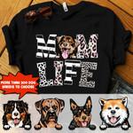 Personalized Dog MOM LIFE Standard T-shirt DHL-16NQ007