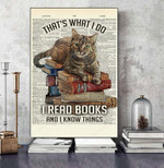 THAT'S WHAT I DO I READ BOOKS AND I KNOW THINGS CAT CANVAS NTP-15SH006