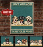 Personalized I Love You More Than Toilet Paper  Canvas HQT-15TP001
