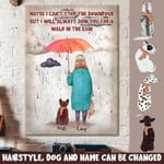 Personalized Dog I Will Always Join You For A Walk In The Rain Canvas DHL-15NQ018