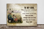 Son and dad fishing Matte Canvas ntk-15dt005