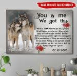 Personalized You And Me We Got This Wolf Canvas NVL-15VA022