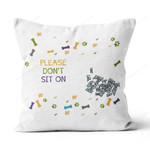 PERSONALIZED LAZY DOG Canvas Pillow DHL-20TQ002