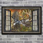 Deer Couple Window Poster NTT-15XT005