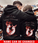 Personalized Till Our Last Breath Deer Couple Hoodie NVL-16DD11