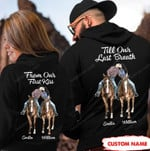 Personalized Till Our Last Breath Horses Couple Hoodie