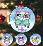 Personalized Dog Christmas Circle Ornament