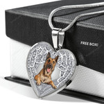 MALINOIS Heart Necklace PM-18CT