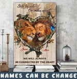 Personalized Side By Side Or Miles Apart Lion Canvas