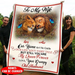 To My Wife Our Home Ain't No Castle Lion Fleece Blanket NVL-21SH004