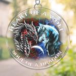 Dragon And Wolf Prints Suncatcher NTT-41VA001