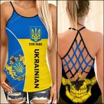Ukraine Flag Women Cross Tank Top NTT-35SH008