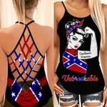Southern Woman Unbreakable Skull Cross Tank Top