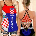 Croatia Flag Women Cross Tank Top NTT-35SH009